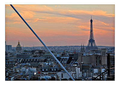 Photograph - Eiffel Tower From Above by Joan  Minchak