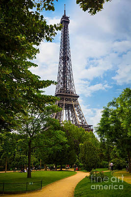 Photograph - Eiffel Tower From Champs De Mars by Inge Johnsson