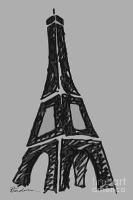 Digital Art - Eiffel Tower Graphic by Robyn Saunders
