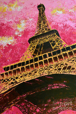 Painting - Eiffel Tower Iconic Structure by Patricia Awapara