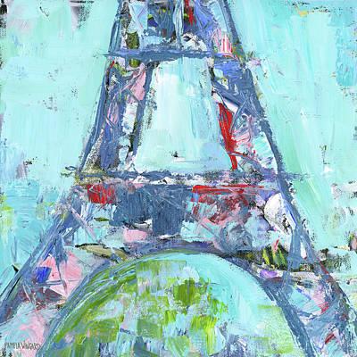 Paris Painting - Eiffel Tower II by Pamela J. Wingard