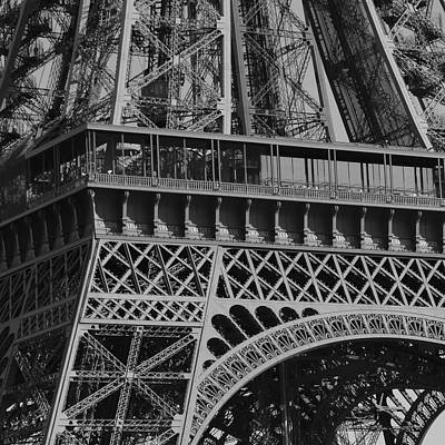 Photograph - Eiffel Tower In Abstract by Cheryl Miller
