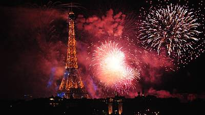 Bastille Day Celebration Photograph - Eiffel Tower In All Her Splendor by Csilla Florida