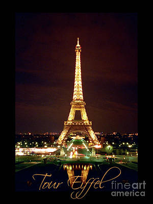 Photograph - Eiffel Tower In Full Color by Heidi Hermes
