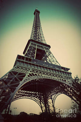 Famous Photograph - Eiffel Tower In Paris Fance In Retro Style by Michal Bednarek