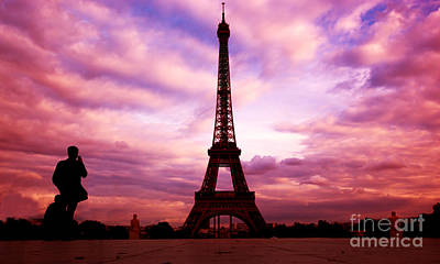 Trees Photograph - Eiffel Tower In Paris Fance by Michal Bednarek