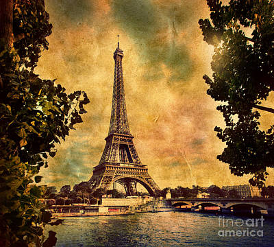 Paris Skyline Royalty-Free and Rights-Managed Images - Eiffel Tower in Paris France by Michal Bednarek