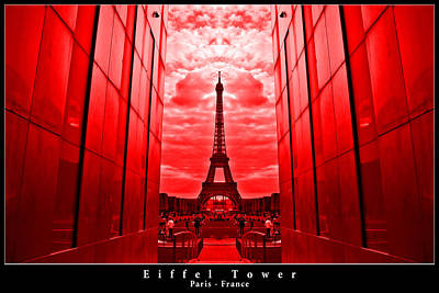 Photograph - Eiffel Tower In Red by Dany Lison