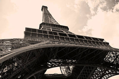 Paris Skyline Royalty-Free and Rights-Managed Images - Eiffel Tower in sepia by IB Photography