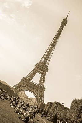 Photograph - Eiffel Tower In Sepia by Jennifer Lycke