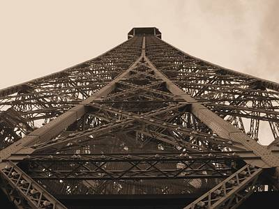 Paris Skyline Royalty-Free and Rights-Managed Images - Eiffel Tower in Sepia by Scott Carda