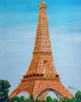 Eiffel Tower In The Spring Art Print by Irving Starr