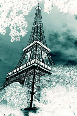 Eiffel Tower In X Ray Original by Micah May