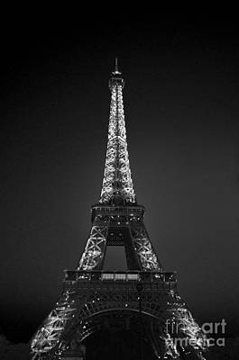 Eiffel Tower Infrared Art Print