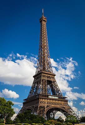 La Tour Eiffel Photograph - Eiffel Tower by Inge Johnsson