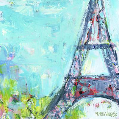 Paris Painting - Eiffel Tower Iv by Pamela J. Wingard