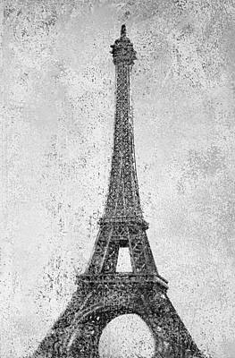 Mixed Media - Eiffel Tower by Kjirsten Collier