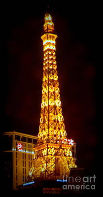Photograph - Eiffel Tower Las Vegas Nevada by Kay Novy