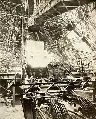 Eiffel Tower Lift Machinery, 1889 Art Print by Science Photo Library