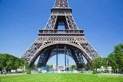 Tour Photograph - Eiffel Tower Lower Part Paris by Michal Bednarek
