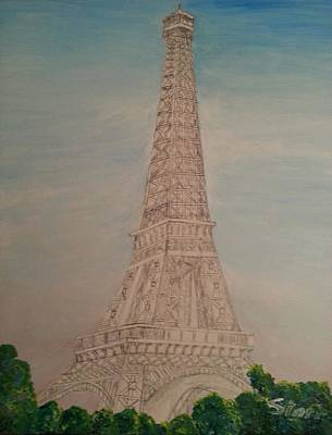 Design Turnpike Books Royalty Free Images - Eiffel Tower Morning mm Royalty-Free Image by Irving Starr
