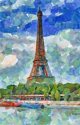Digital Art - Eiffel Tower Nice 1 by Yury Malkov