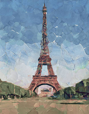 Old Town Digital Art - Eiffel Tower Nice 2 by Yury Malkov