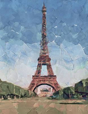 Digital Art - Eiffel Tower Nice 2 by Yury Malkov