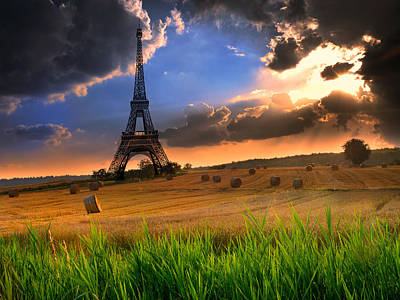 Paris Skyline Royalty-Free and Rights-Managed Images - Eiffel Tower by Nicolae Feraru