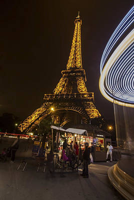 Photograph - Eiffel Tower Night Scene by Sven Brogren