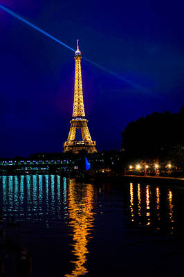 Photograph - Eiffel Tower On The Seine by Mitchell R Grosky