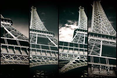 Photograph - Eiffel Tower Panels by John Rizzuto
