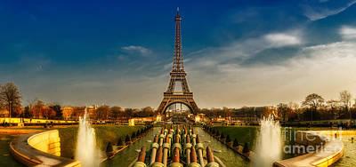Eiffel Tower Panorama Art Print by ARTSHOT  - Photographic Art