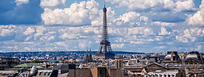 Photograph - Eiffel Tower Panorama by Mitchell R Grosky