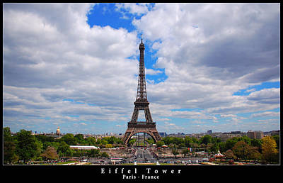 Photograph - Eiffel Tower - Paris by Dany Lison