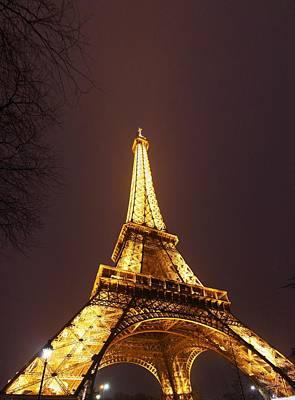 Travel Photograph - Eiffel Tower - Paris France - 011313 by DC Photographer