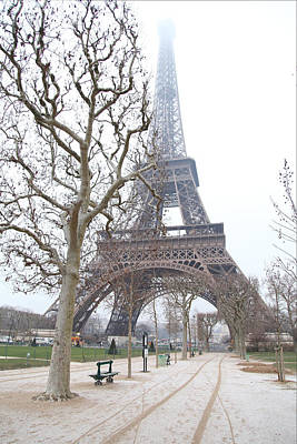 Steel Photograph - Eiffel Tower - Paris France - 011315 by DC Photographer