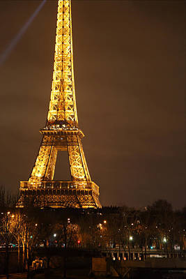 Eiffel Tower - Paris France - 011324 Art Print by DC Photographer