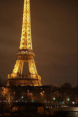 Steel Photograph - Eiffel Tower - Paris France - 011326 by DC Photographer
