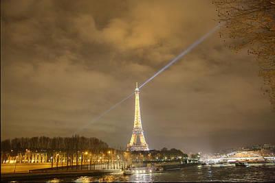 Steel Photograph - Eiffel Tower - Paris France - 011335 by DC Photographer
