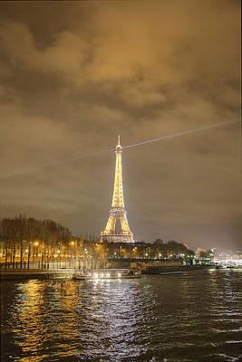 Eiffel Tower - Paris France - 011337 Print by DC Photographer