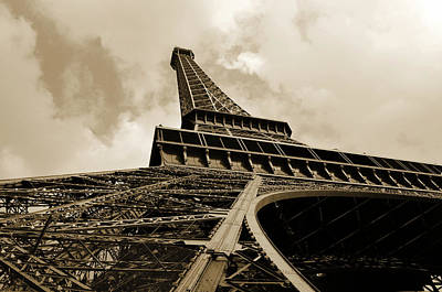 Eiffel Tower Paris France Black And White Art Print by Patricia Awapara