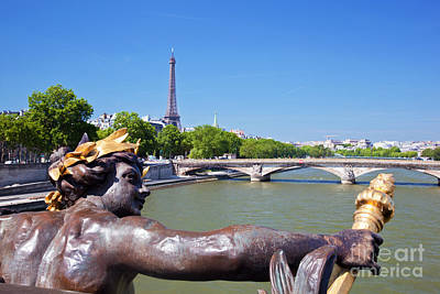 National Photograph - Eiffel Tower Paris France by Michal Bednarek
