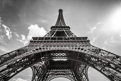 Photograph - Eiffel Tower Paris In Black And White by Pierre Leclerc Photography