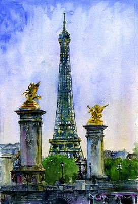 Painting - Eiffel Tower Paris by John D Benson