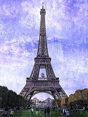 Eiffel Tower Paris Art Print by Kathy Churchman