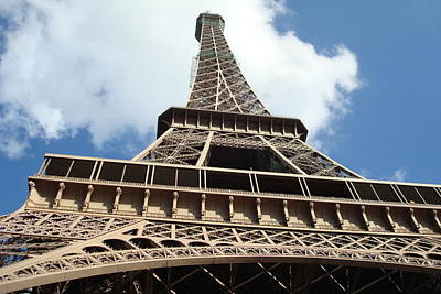 Art Print featuring the photograph Eiffel Tower Perspective by Kay Gilley