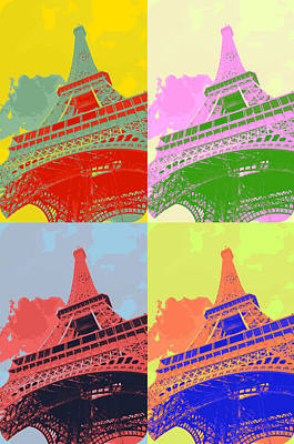 Eiffel Tower - Pop Art Art Print by Patricia Awapara
