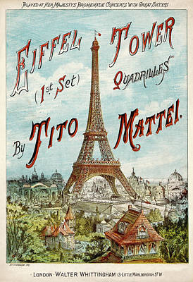 Eiffel Tower Drawing - 'eiffel Tower Quadrilles'          Date by Mary Evans Picture Library