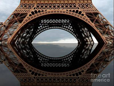 Photograph - Eiffel Tower Reflection Abstract by Carol Groenen